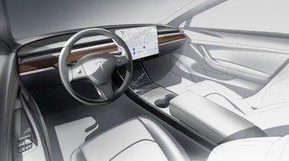 Ein Display, sonst nichts: Innenraum des Tesla Model 3 ist eine Revolution