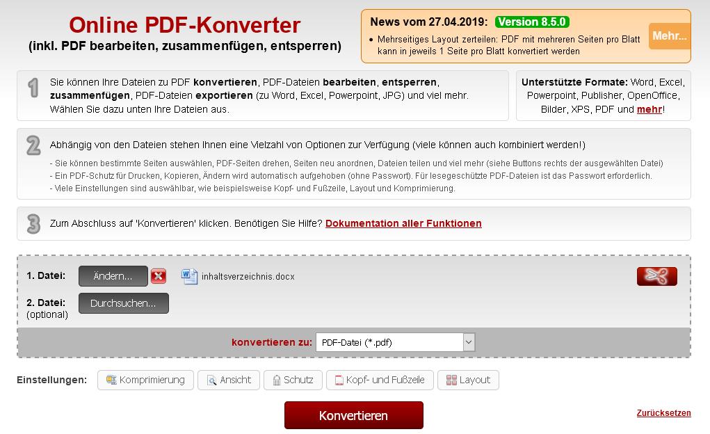 Word in PDF umwandeln - so geht's in Word, online oder mit ...