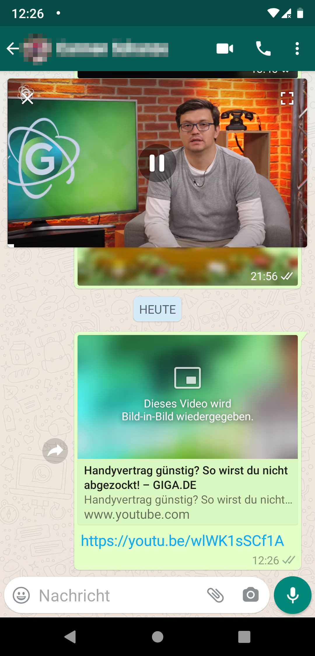 Youtube Video Per Whatsapp Versenden