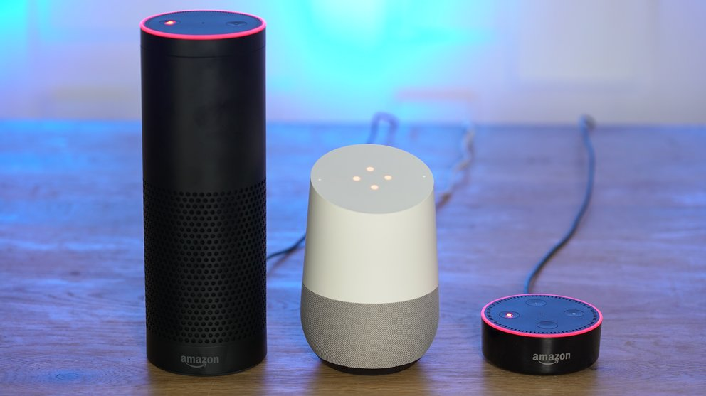 Amazon Echo, Google Home, Echo Dot