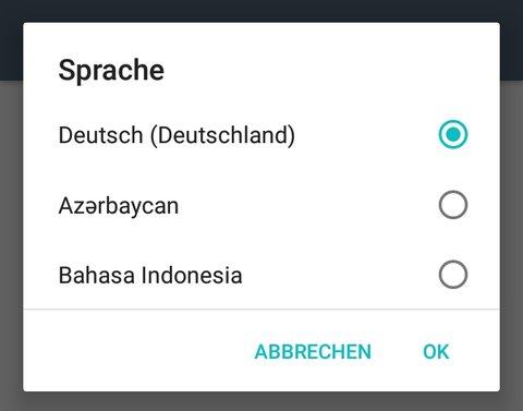 Android 6 Sprache ändern OK