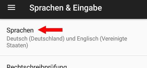 Android 7 Sprache ändern Sprache