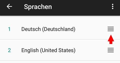 Android 7 Sprache ändern auswählen