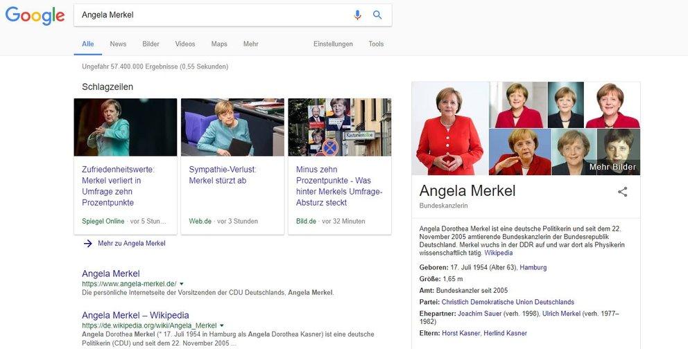 Angela Merkel Google