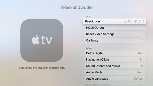 Bessere Bildqualität: Deutlicher Hinweis für Apple TV mit 4K-Auflösung