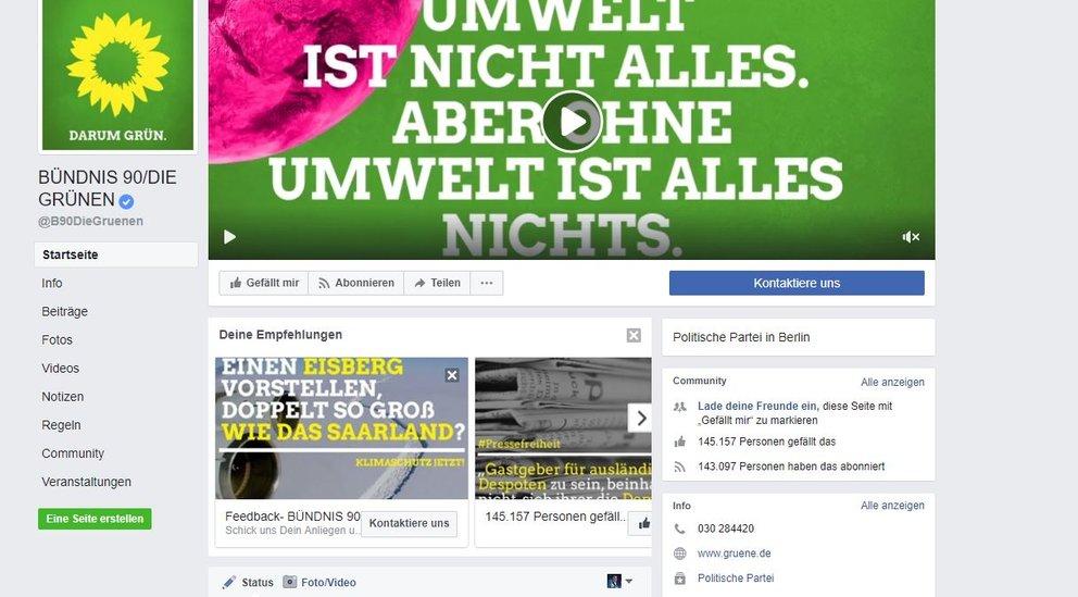 Die Grünen Facebook