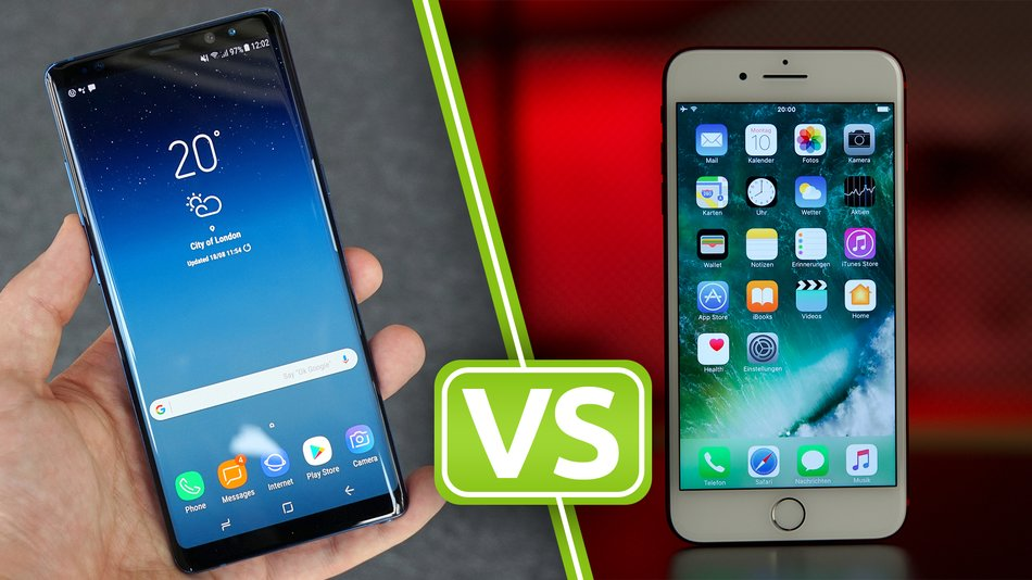samsung note 8 vs iphone 7