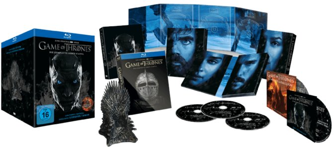 Game-of-Thrones -Die-komplette-7.-Staffel-inkl.-Bonus-Disc---Mini-Thron---Exklusiv-ltd.-[Blu-ray]