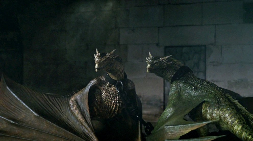 Game of Thrones Drachen Rhaegal Viserion HBO