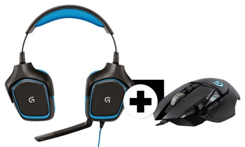 LOGITECH-G430-Headset-G502 Gaming-Maus