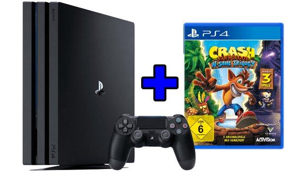 PS4 Pro 1 TB mit Crash Bandicoot zum Knallerpreis