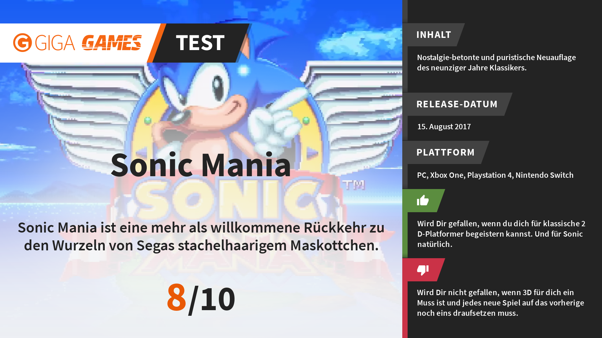 Sonic Mania - Unboxing der Collector´s Edition