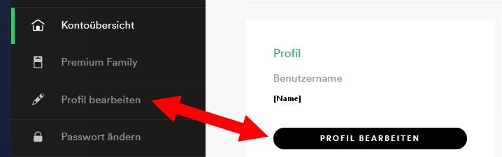Spotify Profilnamen ändern