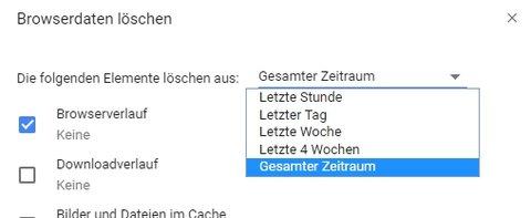 Suchverlauf löschen Chrome Browserverlauf