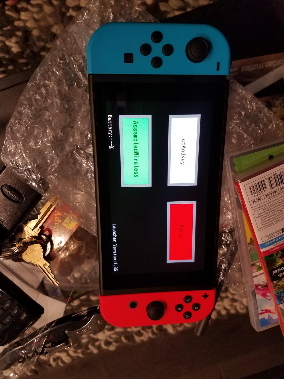 Hier erstrahlt das Entwicklermenü der Nintendo Switch.