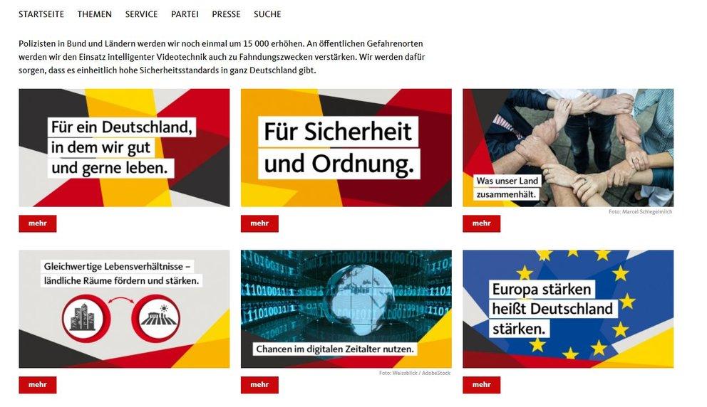 Wahlprogramm CDU