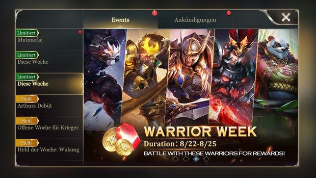 Arena of Valor: Events und ihre Belohnungen