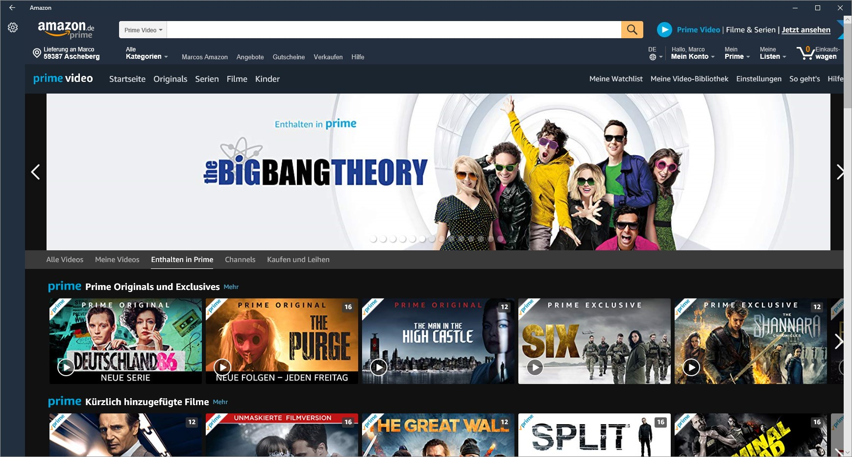 Amazon Prime Video App Für Windows Bilderstrecke Giga