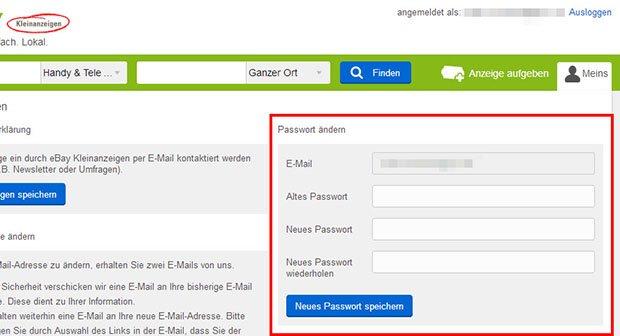 nutzerkonto eingeschränkt ebay kleinanzeigen