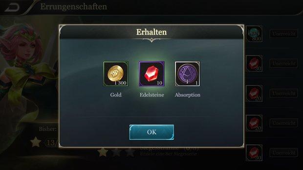 Arena of Valor: Gold und Edelsteine bekommen