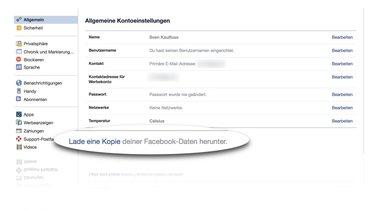 Facebook herunter Lade Freunde