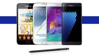Samsung Galaxy Note: Ein Rückblick auf 6 Jahre Phablet-Geschichte