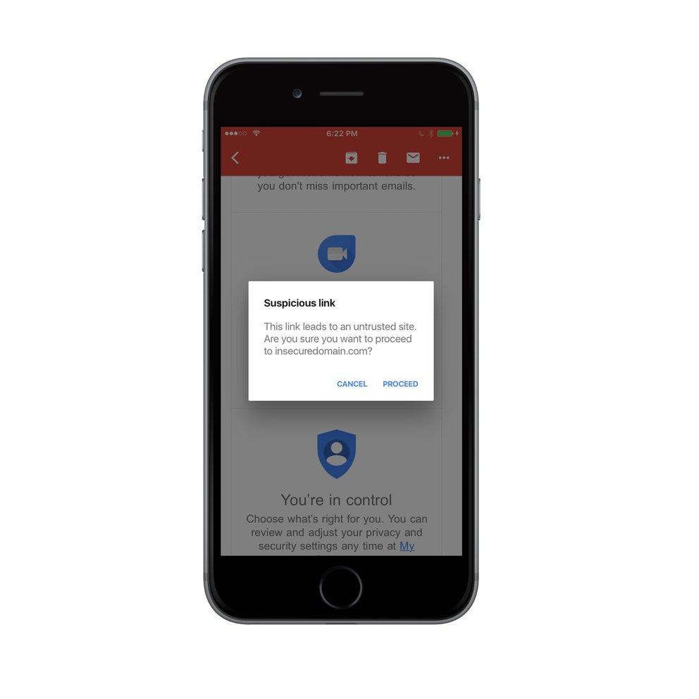 Gmail-App für iOS schützt vor Phishing-Angriffen