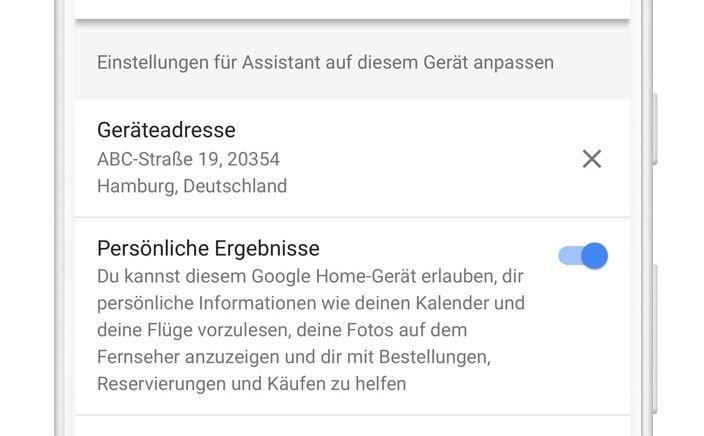 google-home-standort