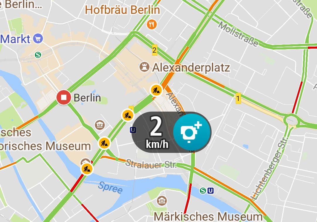 Google Maps Blitzer