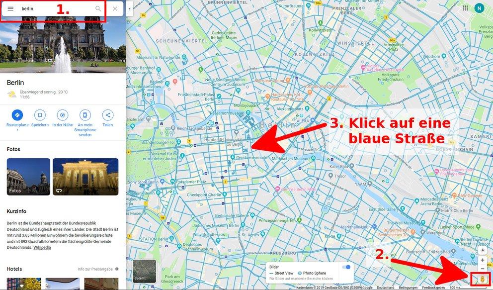 Google Maps Street View Aktivieren