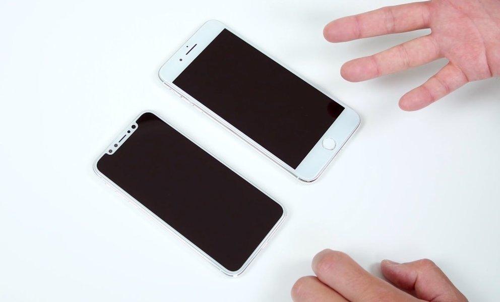 iPhone 8 und 7 S Plus Dummys im Vergleich (Quelle: Danny Winger)