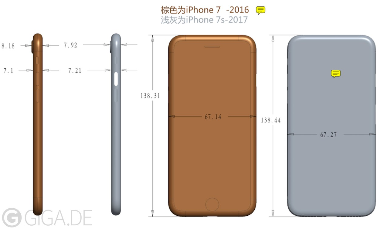 exclusive iphone 7s will be thicker but gets thinner camera bulge giga. Black Bedroom Furniture Sets. Home Design Ideas