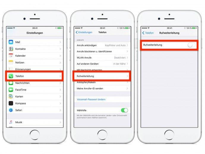 So kommt ihr auf dem iPhone zur Rufweiterleitung. Bildquelle: maclife.de