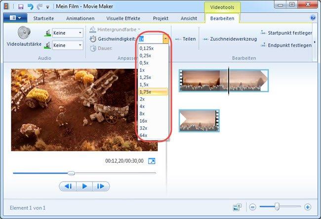 Hier könnt ihr die Video-Geschwindigkeit permanent schneller machen. Bildquelle: showmore.com