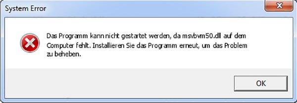 Angeblich sollt ihr das Programm erneut installieren. Das funktioniert aber nicht immer.