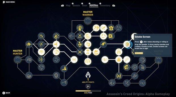 Assassins's Creed Origins: Alle Skills und das Fertigkeitssystem erklärt