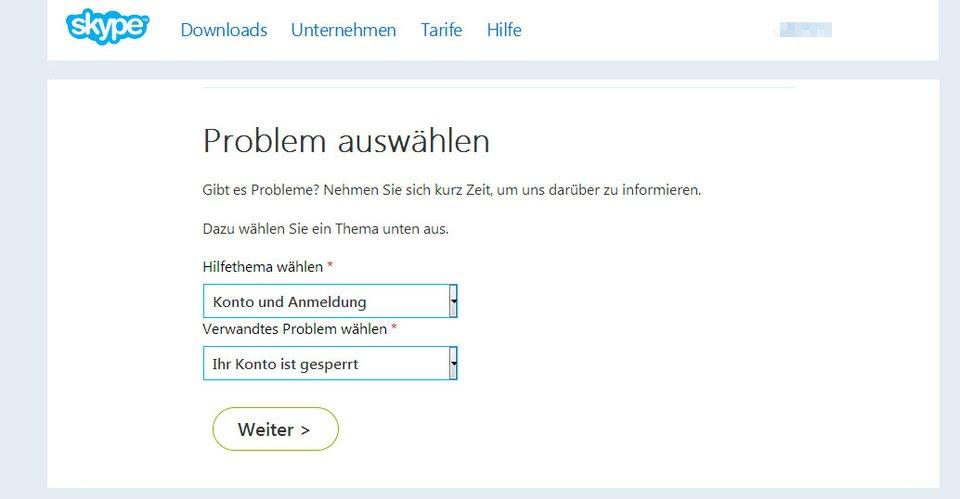 Auf der Support-Webseite könnt ihr euer Problem zunächst eingrenzen.