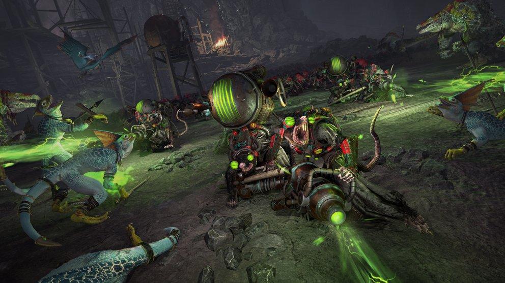 In Total War: Warhammer 2 stehen sich unter anderem Echsenmenschen und Skaven gegenüber.