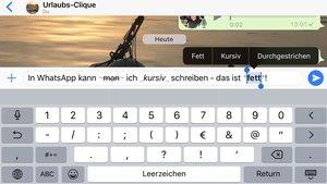 WhatsApp für iPhone: So schreibt man fett und kursiv