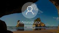 Als Administrator anmelden – so geht's