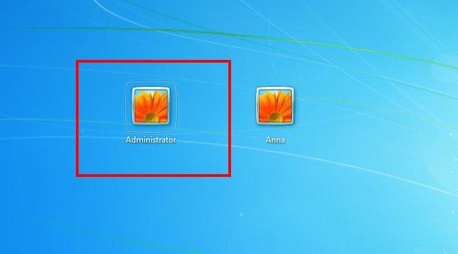 Nun zeigt euch Windows auch das Admin-Konto im Anmeldebildschirm an