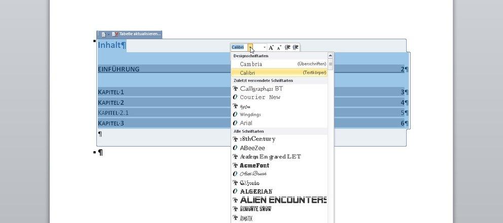 word-inhaltsverzeichnis-frei-formatieren