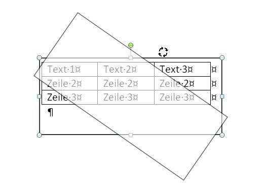 Tabelle Drehen