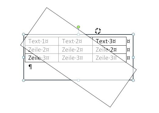 word-tabelle-drehen-textfeld