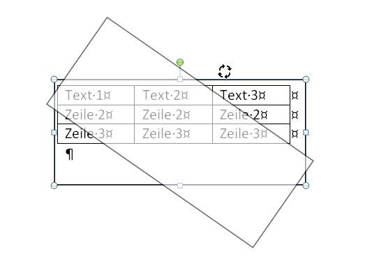 tabelle in word drehen