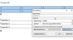 Word: Tabellenverzeichnis einfügen – automatisch