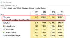 """Prozess """"wsappx"""" lädt große Datenmengen aus dem Internet – wie deaktivieren?"""