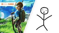 So sieht Zelda: Breath of the Wild ohne Cel-Shading aus