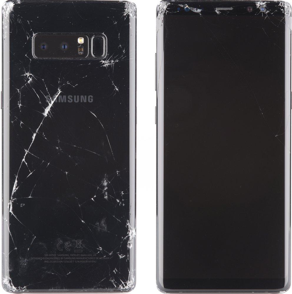Samsung Galaxy Note 8: Im Stabilitätstest der Stiftung Warentest durchgefallen (Quelle: Stiftung Warentest)