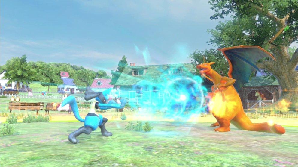 Wie der Titel schon verrät, trifft im Spiel das taktische Gameplay von Tekken auf die niedlichen Charaktere aus Pokémon.